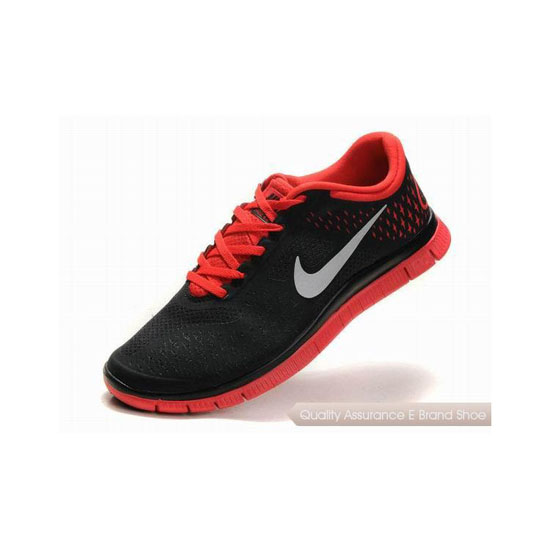 Nike Free 4.0 V2 Womens Running Shoe Black Red Silver