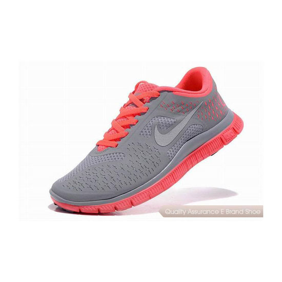 Nike Free 4.0 V2 Womens Running Shoe Grey Pink Silver