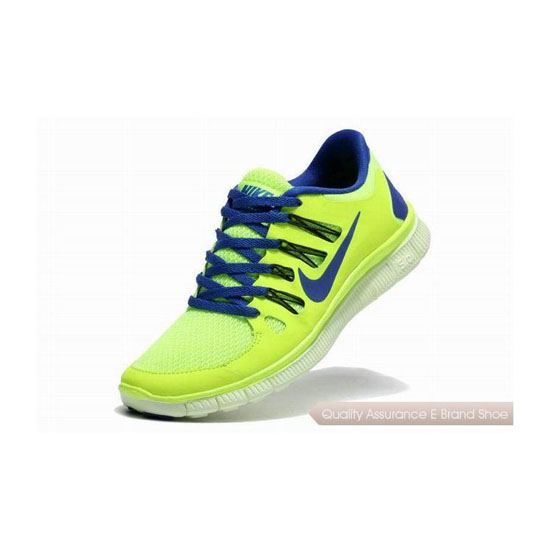 Nike Free 5.0+ Mens Running Shoe Green Royal Blue