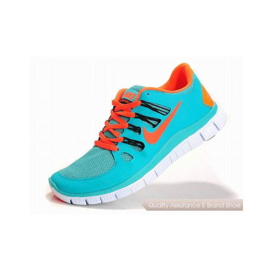 Nike Free 5.0+ Mens Running Shoe Blue Orange