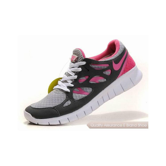 Nike Free Run+ 2 Womens Running Shoe Grey Rose Pink