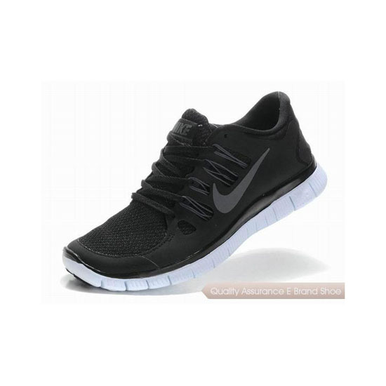 Nike Free 5.0+ Mens Running Shoe Black Grey