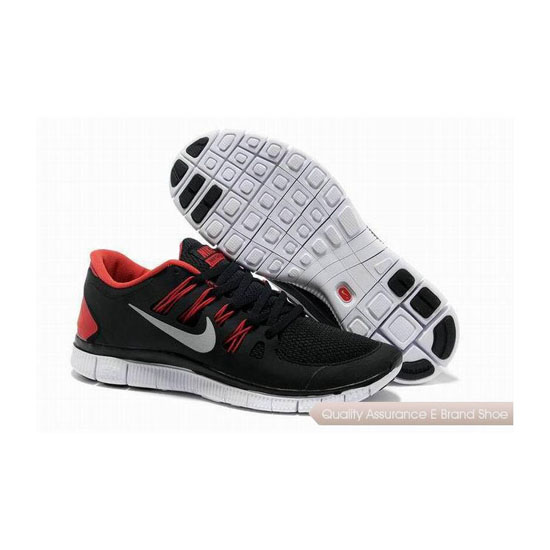 Nike Free 5.0+ Mens Running Shoe Black Red
