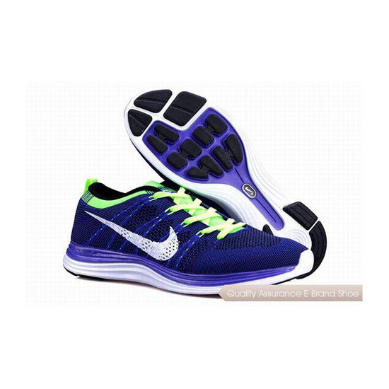 NIKE FLYKNIT 1 Dark Blue White Mens Sneakers