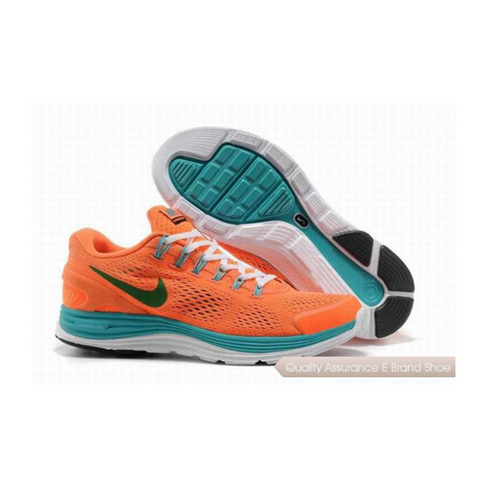 Nike Lunar Glide +4 Orange Womens Sneakers