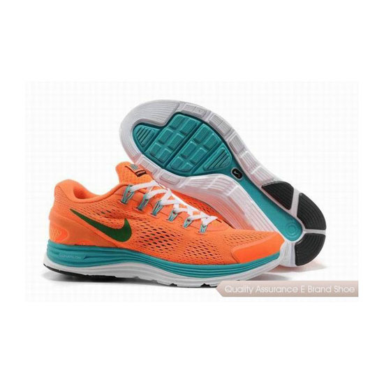 Nike Lunar Glide +4 Orange Mens Sneakers
