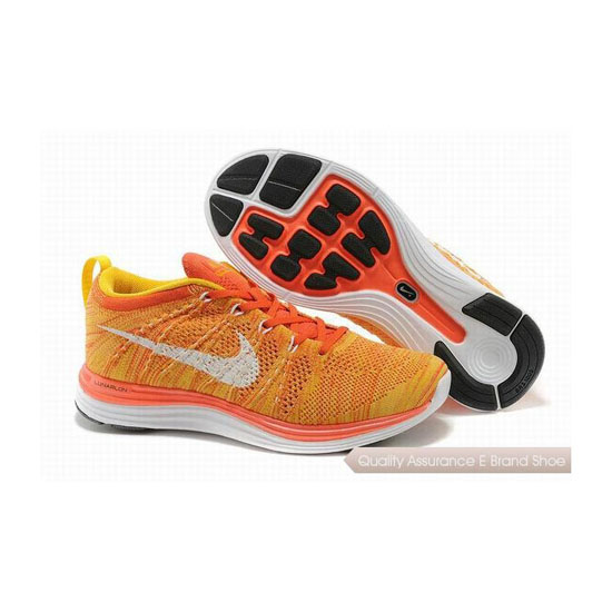 Nike Flyknit Lunar 1 Light Orange Mens Sneakers