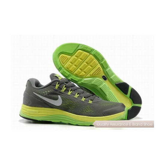 Nike Lunar Glide +4 Grey Green Mens Sneakers