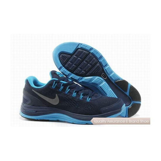Nike Lunar Glide +4 Blue Mens Sneakers