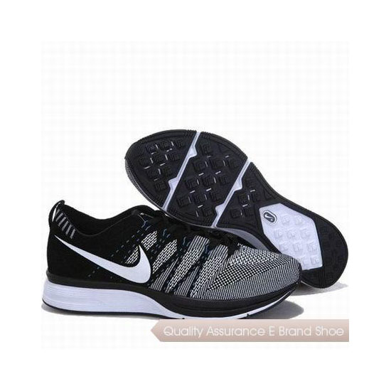 Nike Flyknit Trainer Suede Leather Black Grey Mens Sneakers