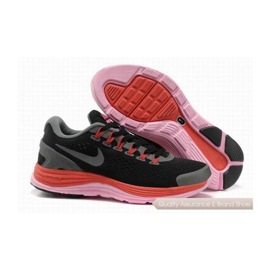 Nike Lunar Glide +4 Black Red Womens Sneakers