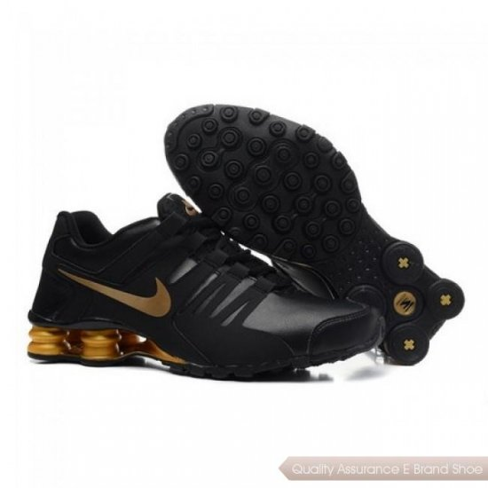 Nike Shox Current Men Black/Gold Running Shoes 1013