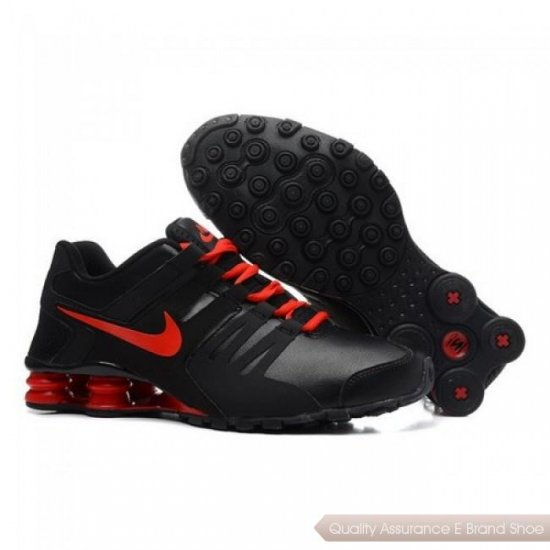 Nike Shox Current Men Black/Red Running Shoes 1010