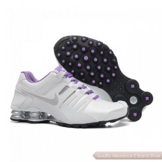 Nike Shox Current Women White/Grey-Purple Running Shoes 1005