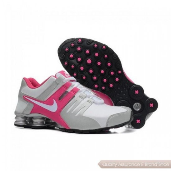 Nike Shox Current Women Pink/Grey-Wihte Running Shoes 1003