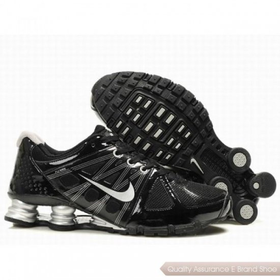 Nike Shox Agent Men Black/Sliver Shoes 1006