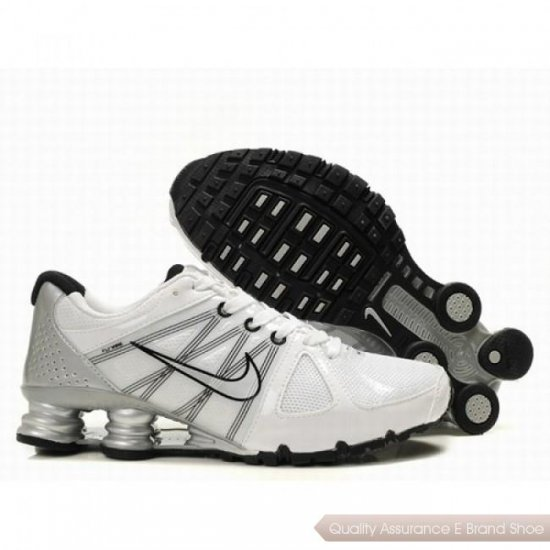 Nike Shox Agent Men White/Black/Sliver Shoes 1004