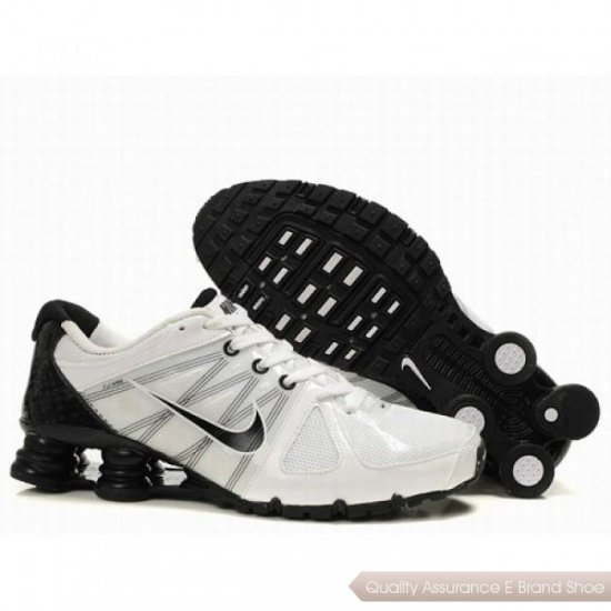 Nike Shox Agent Men White/Black Shoes 1001