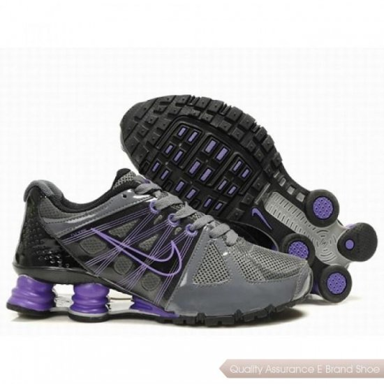 Nike Shox Agent Men Grey/Purple Shoes 1011