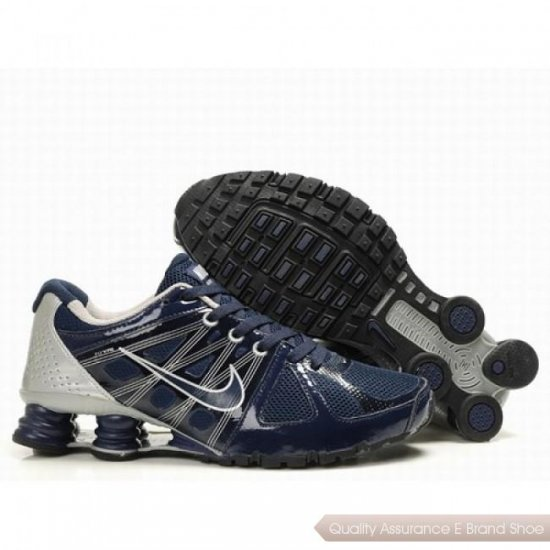 Nike Shox Agent Men Navy/Silver Shoes 1009