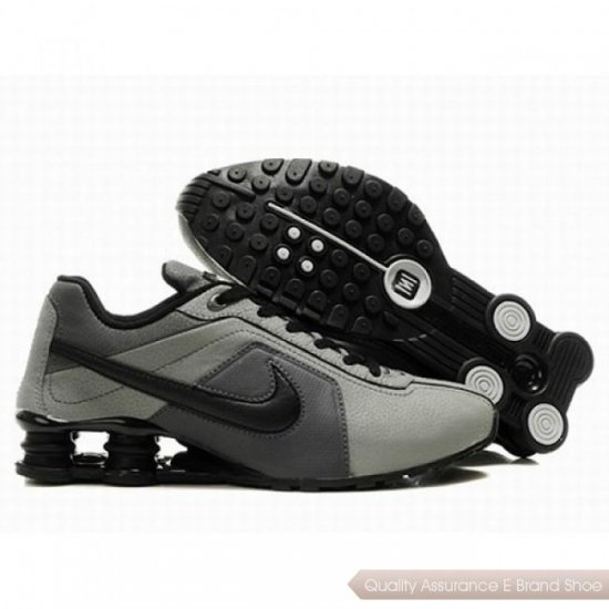 Nike Shox R4 Men Grey/Black Shoes 1069