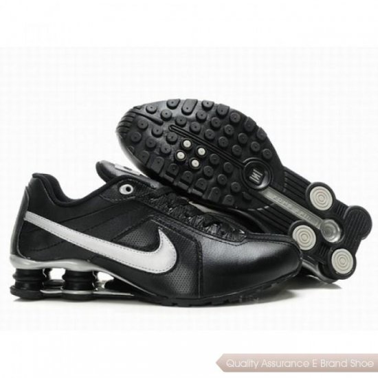 Nike Shox R4 Men Black/White Shoes 1072