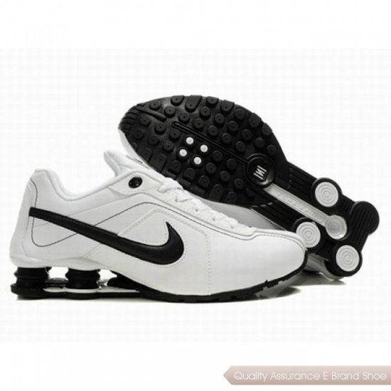 Nike Shox R4 Men White/Black Shoes 1074