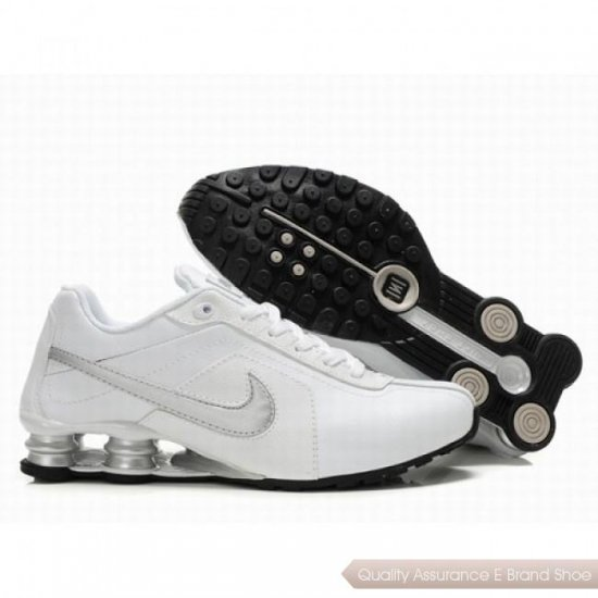 Nike Shox R4 Men White/Silver Shoes 1075