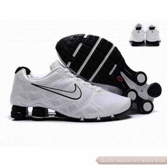 Nike Shox Turbo12 Men Mesh Shoes White/Black 1011