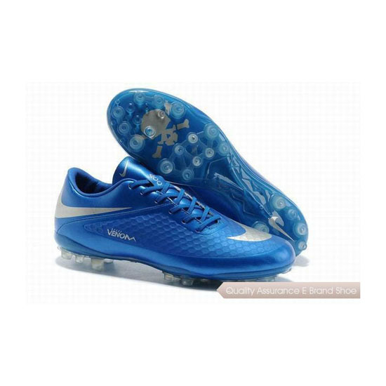 Nike Hypervenom ACC Phantom AG Cleats Blue Silver