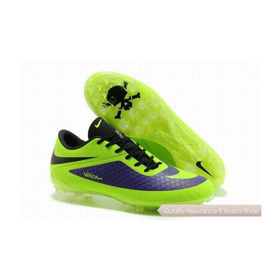 Nike Hypervenom ACC Phantom AG Cleats Lime Green Dark Blue Black
