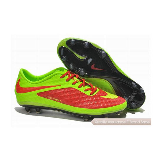 Nike Hypervenom Phantom ACC FG Cleats 2013 Red Lawn Green Black