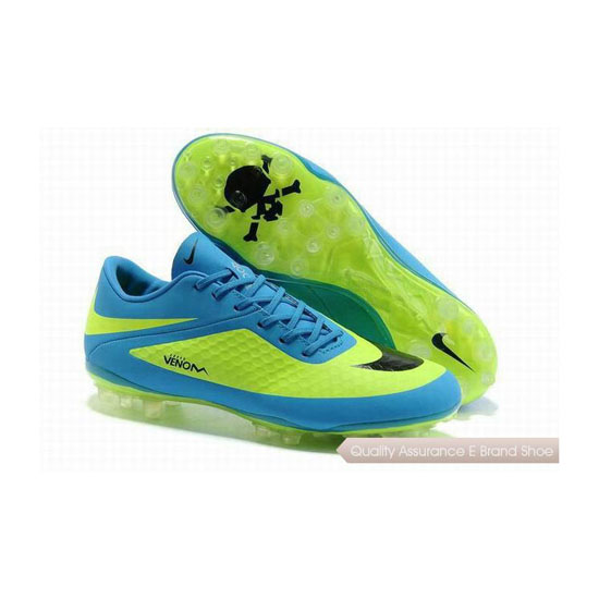 Nike Hypervenom Phantom AG Cleats 2013 Blue Lime Green Black