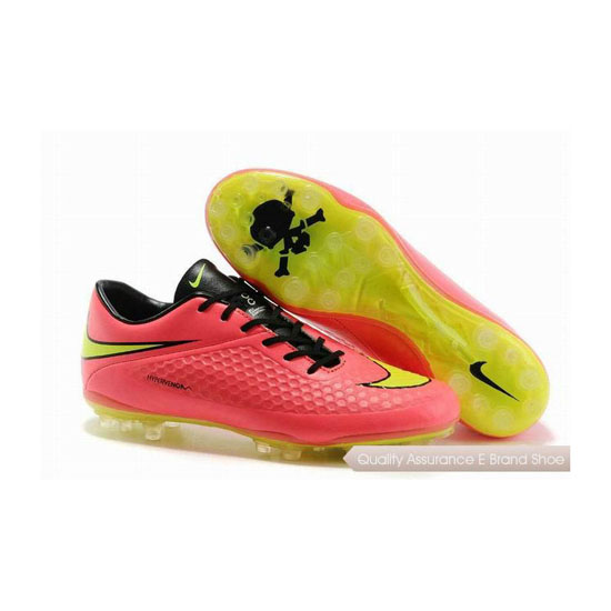 Nike Hypervenom Phantom AG Cleats 2014 Pink Black Yellow