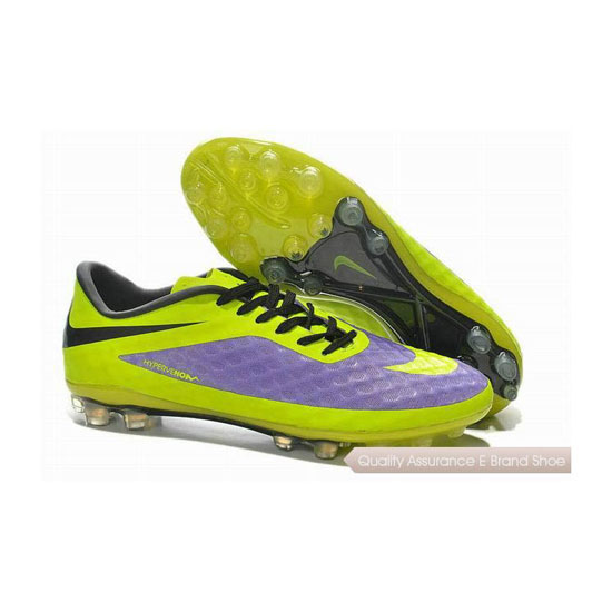 Nike HyperVenom Phantom AG Cleats 2014 Purple Green Yellow Black