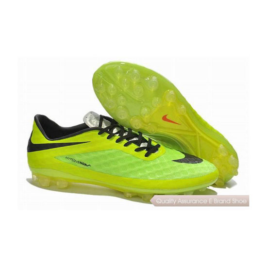 Nike HyperVenom Phantom AG Cleats Volt Green Yellow Black