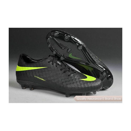 Nike HyperVenom Phantom FG Cleats 2014 Black Green
