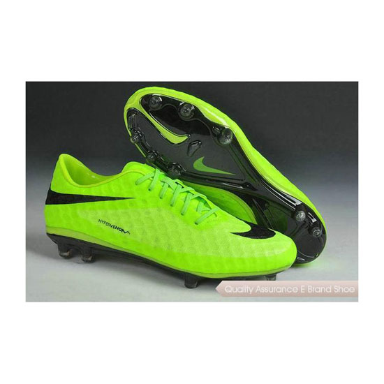 Nike HyperVenom Phantom FG Cleats 2014 Fluorescent Green Black
