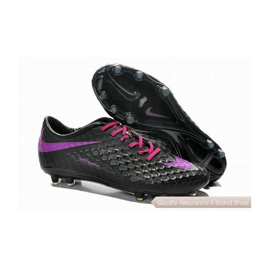 Nike Hypervenom Phantom FG Soccer Cleats 2014 Black Pink Purple