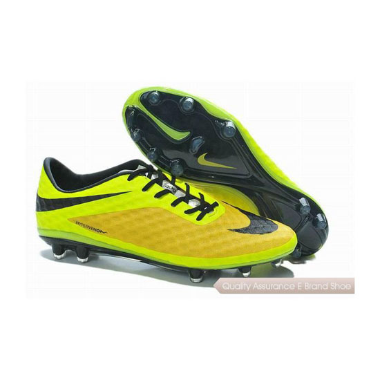 Nike Hypervenom Phantom FG Soccer Cleats 2014 Yellow Black Fluorescent Green
