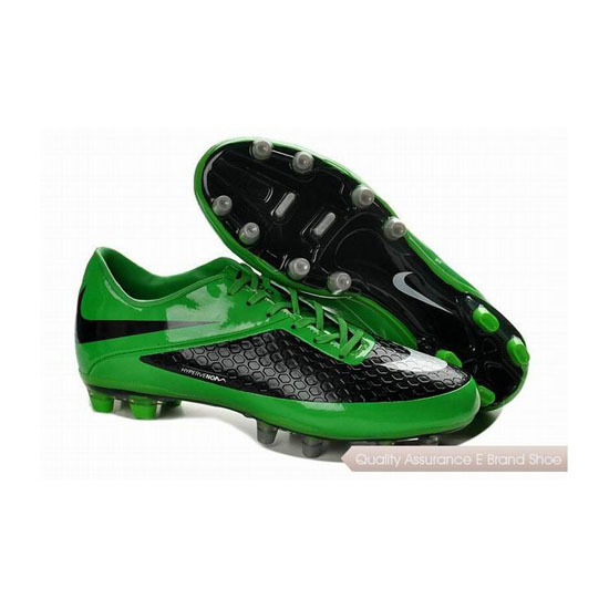 Nike HyperVenom Phatal FG Cleats Black Green White