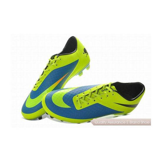 Nike HyperVenom Phatal FG Cleats Fluorescent Green Blue Black
