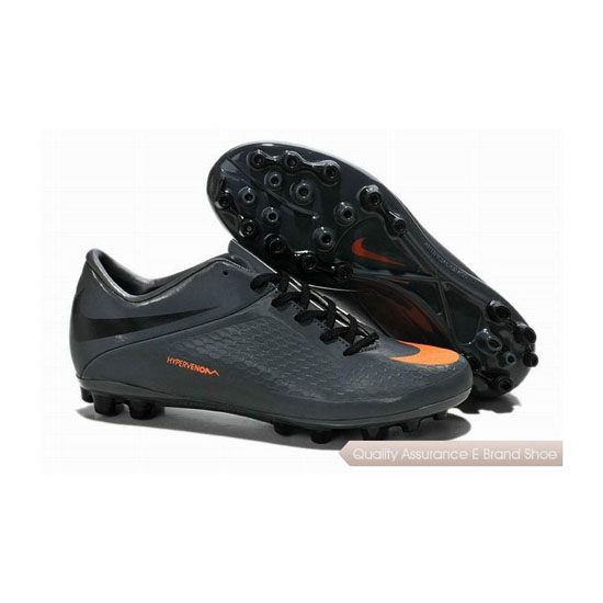 Nike Hypervenom Phelon AG Cleats Black Gray Orange