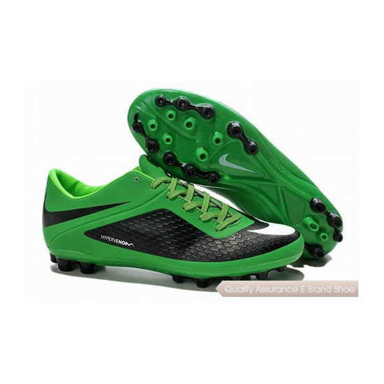 Nike Hypervenom Phelon AG Cleats Black Green White