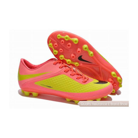 Nike Hypervenom Phelon AG Cleats Pink Yellow Green Black