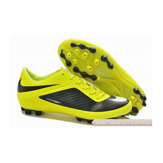 Nike Hypervenom Phelon AG Cleats Yellow Black White