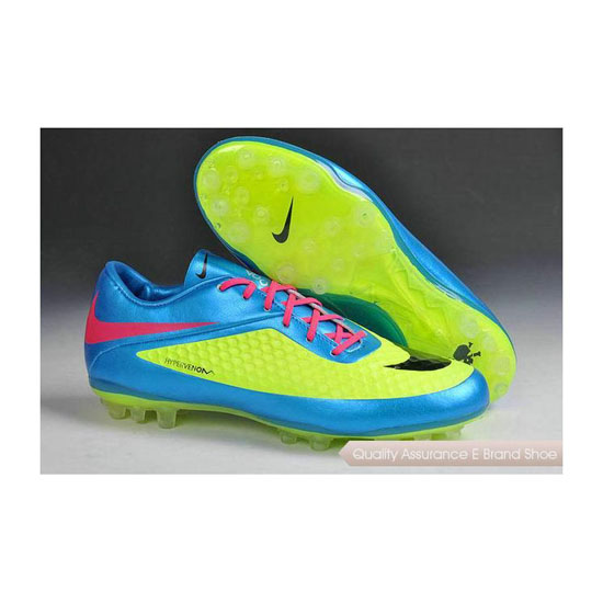 Nike Hypervenom Phelon AG Jnr Cleats 2014 Blue Green Black Pink