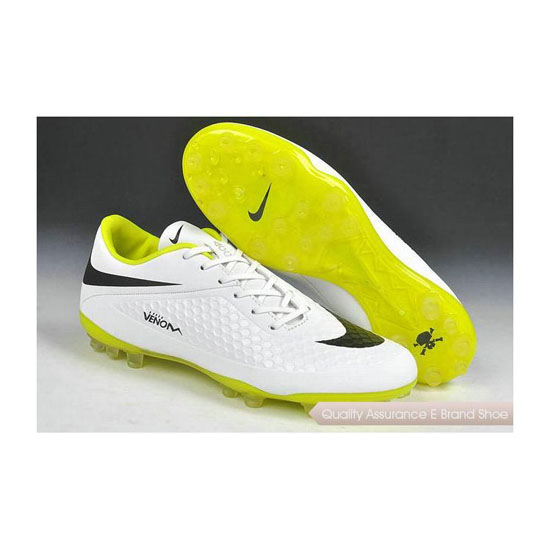 Nike Hypervenom Phelon AG Jnr Cleats 2014 White Black Yellow