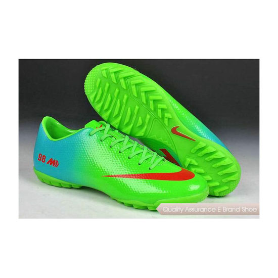Nike Mercurial Veloce TF 98 World Cup Shoes Lime Green Red Blue