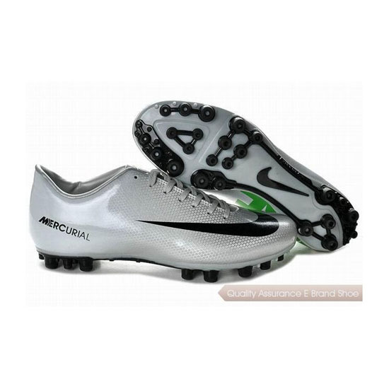 Nike Mercurial Victory IV AG Shoes Silver Black Green